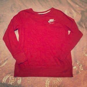 👚 Women's Large Nike Vintage Orange Sweatshirt
